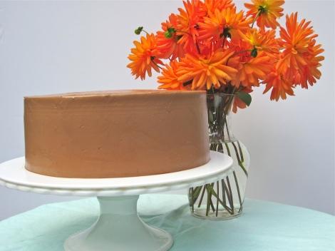 Chocolate Cake with Chocolate Swiss Meringue Buttercream