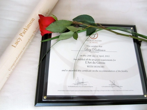 Honors graduate, L'Art du Gateau, French Pastry School