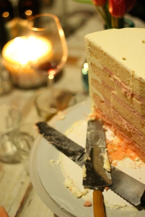 Yellow Cake with Raspberry & Vanilla Buttercream