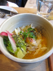 'California in a bowl' -dungeness crab, avocado, fennel, mandarin at State Bird Provisions