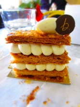 Vanilla caramel mille-feuille from B. Pastisserie