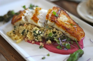 Market fish with cous cous