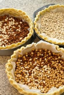 Blind baking tart shells