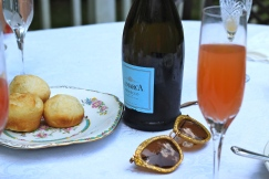 Mimosas and homemade rolls