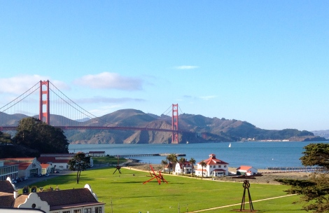 San Francisco Golden Gate Bridge and Crissy Field