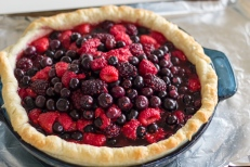 Mixed Berry Pie with Ginger, Orange, & Almond Streusel