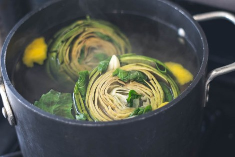 Simple Sides: Artichokes with Lemon, Basil & Garlic
