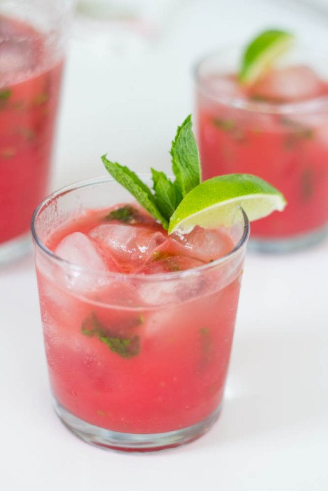 watermelon lime mint agua fresca