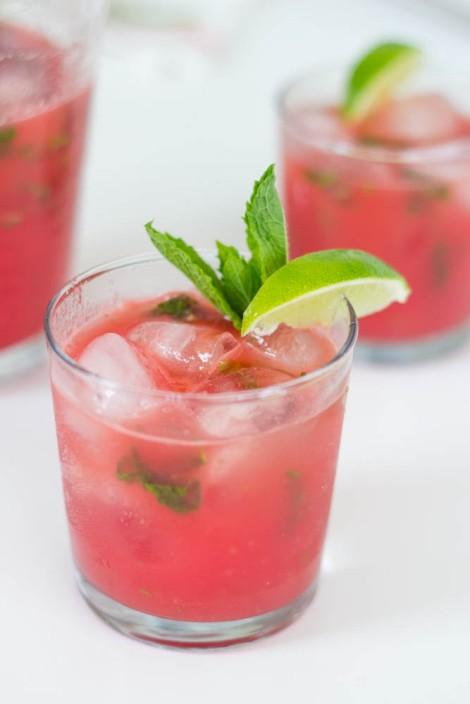 watermelon lime mint agua fresca