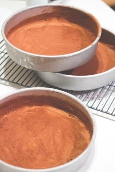 Chocolate Cake with Chai Swiss Meringue Buttercream
